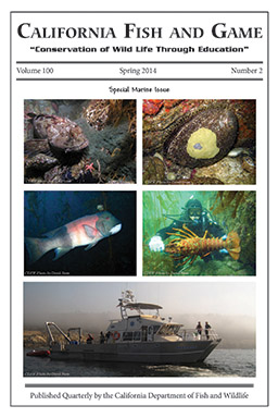 California fish and game cdfw marine management news for Wildlife fish and game