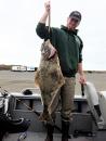 fisherman with halibut
