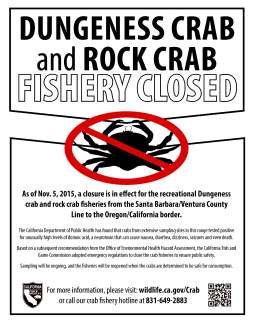crab closure flyer
