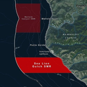 Sea Lion Gulch map