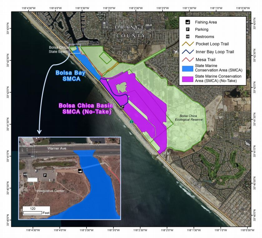 Bolsa Chica Wetlands Map By CDFW Marine Region GIS Lab