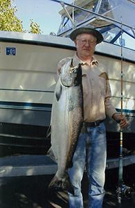 man with salmon