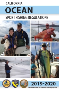 Ocean Sport Fishing regulations booklet cover