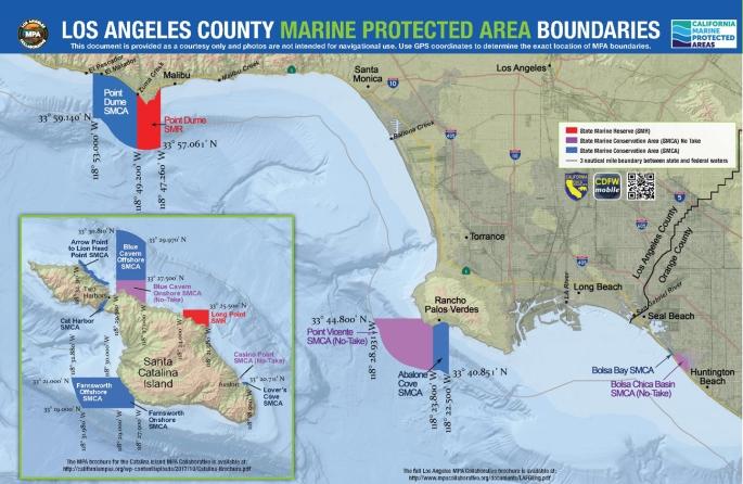 Map of LA County's MPAs