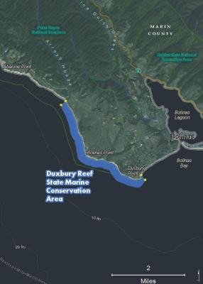 map of Duxbury Reef SMCA