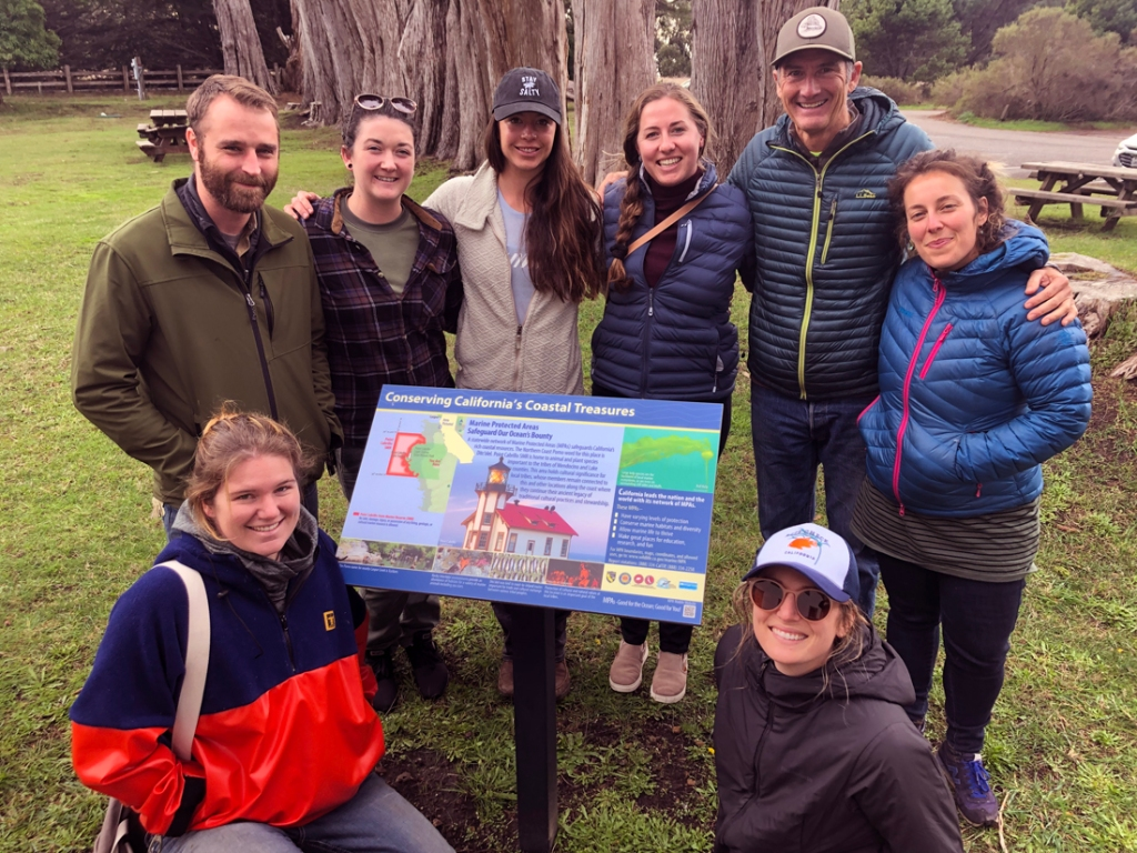 Mendocino MPA Collaborative members at a state historic park
