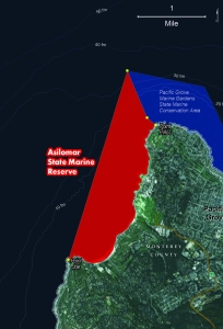 Asilomar State Marine Reserve map