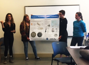Cabrillo College students present a poster