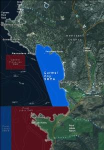 map of Carmel Bay SMCA