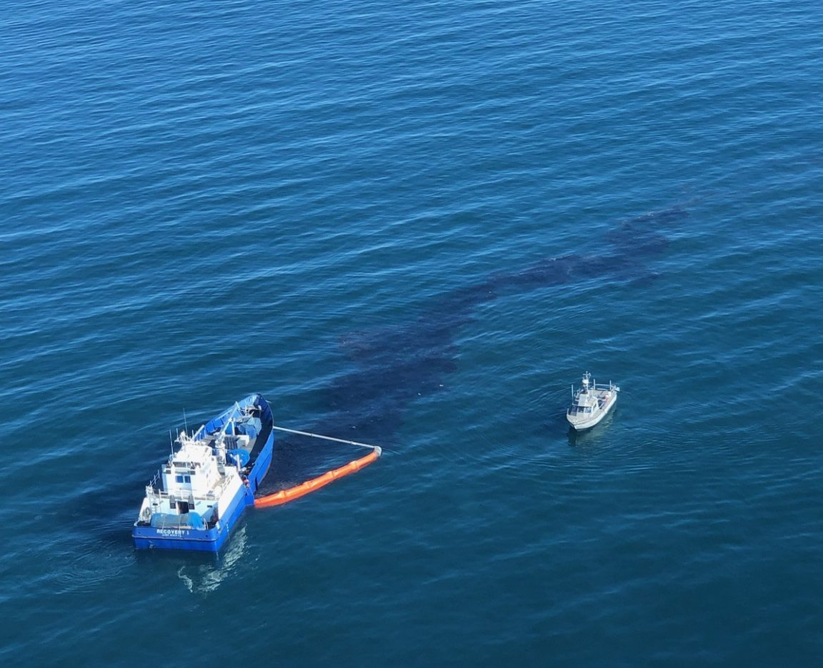 Oil spill clean-up efforts under way